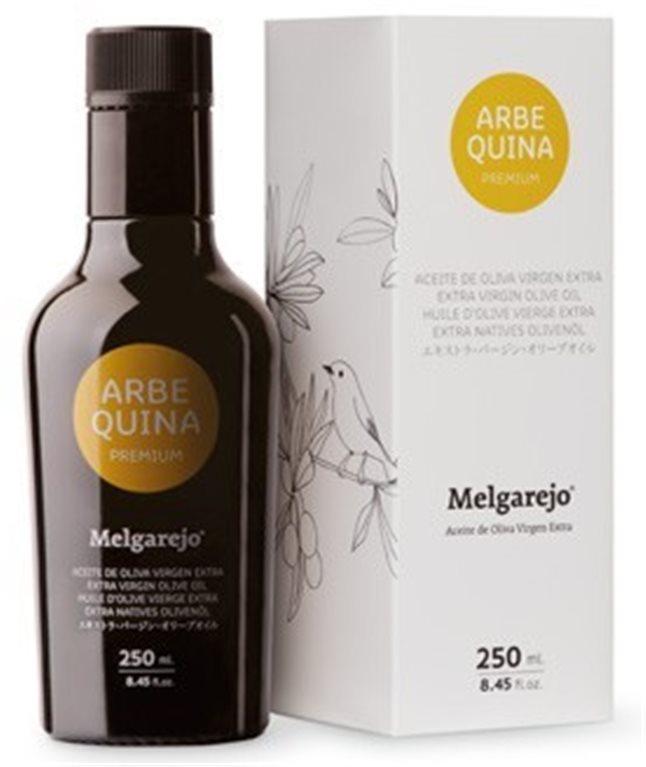 Melgarejo Premium. Aceite de oliva Arbequina 250 ML, 1 ud
