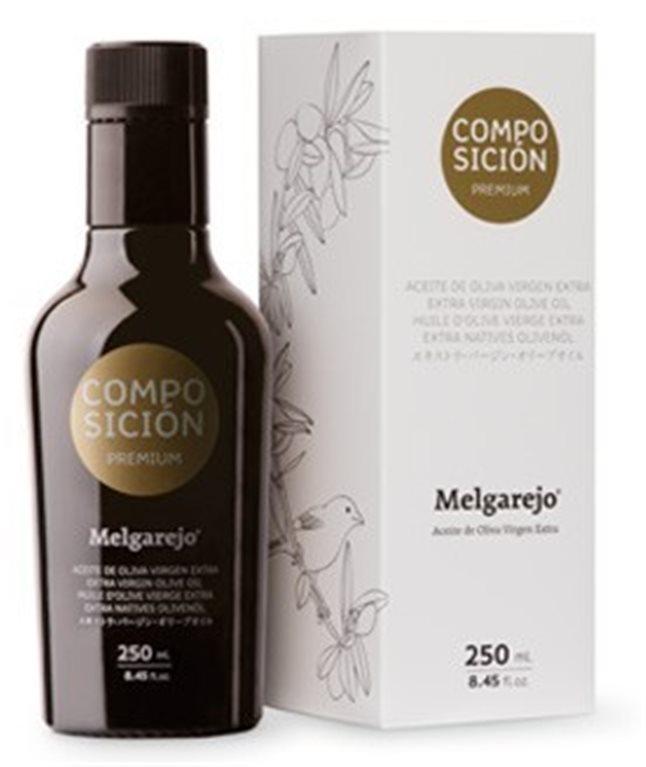 Melgarejo Premium. Aceite de oliva composición. 250 ML, 1 ud