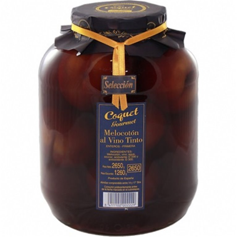 Melocotón con vino Coquet 2650, 1 ud