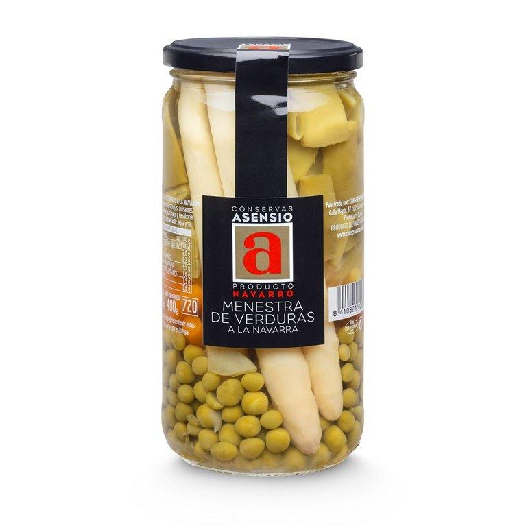 Menestra de verduras Extra de Navarra Frasco 660 g