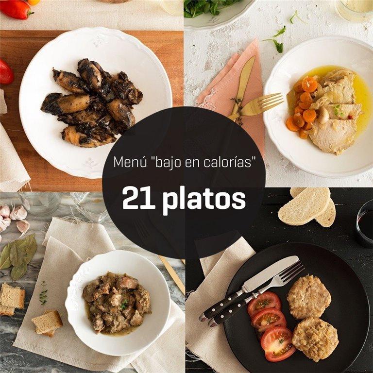 Menú bajo en calorías 21 platos, 1 ud