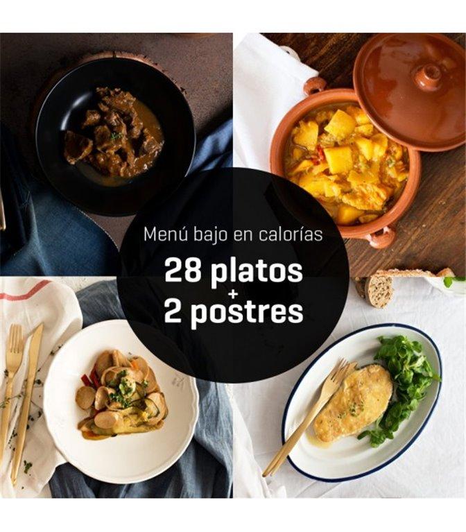 Menú bajo en calorías 28 platos, 1 ud