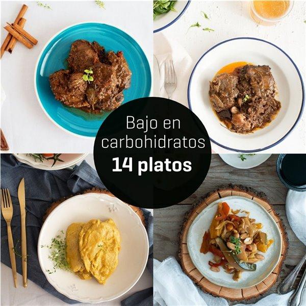Menú bajo en carbohidratos 14 platos