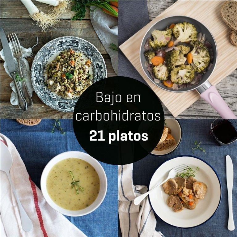 Menú bajo en carbohidratos 21 platos., 1 ud