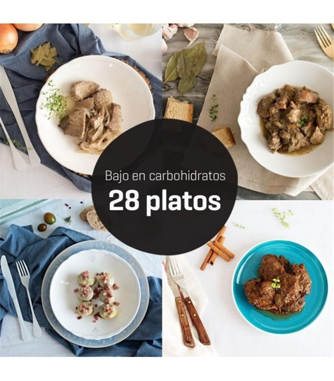 Menú bajo en carbohidratos 28 platos, 1 ud