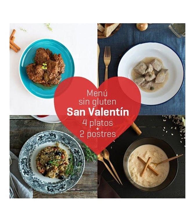 Menú de San Valentín sin gluten, 1 ud