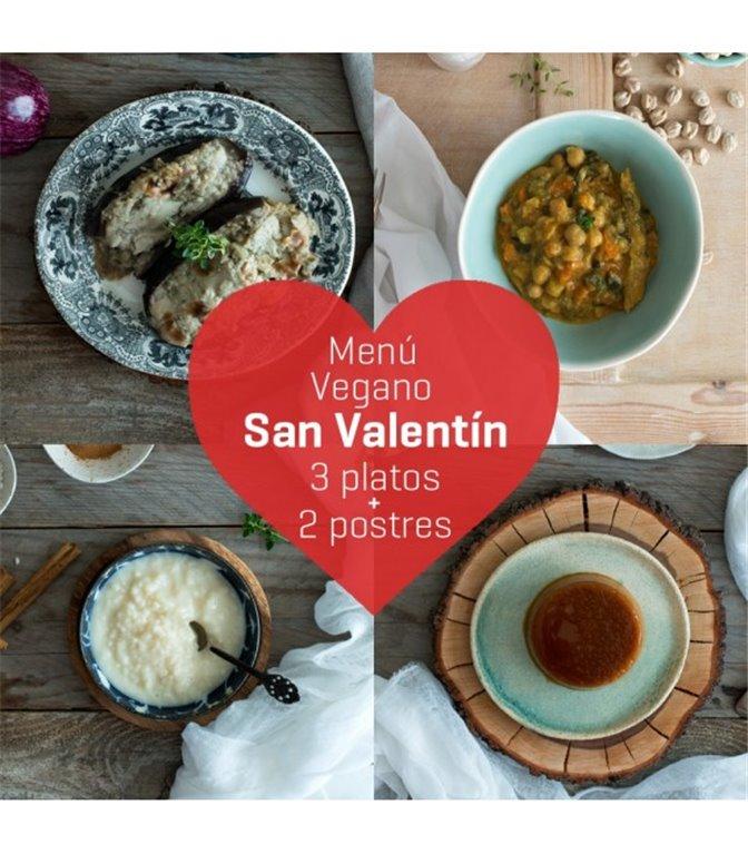 Menú de San Valentín vegano, 1 ud