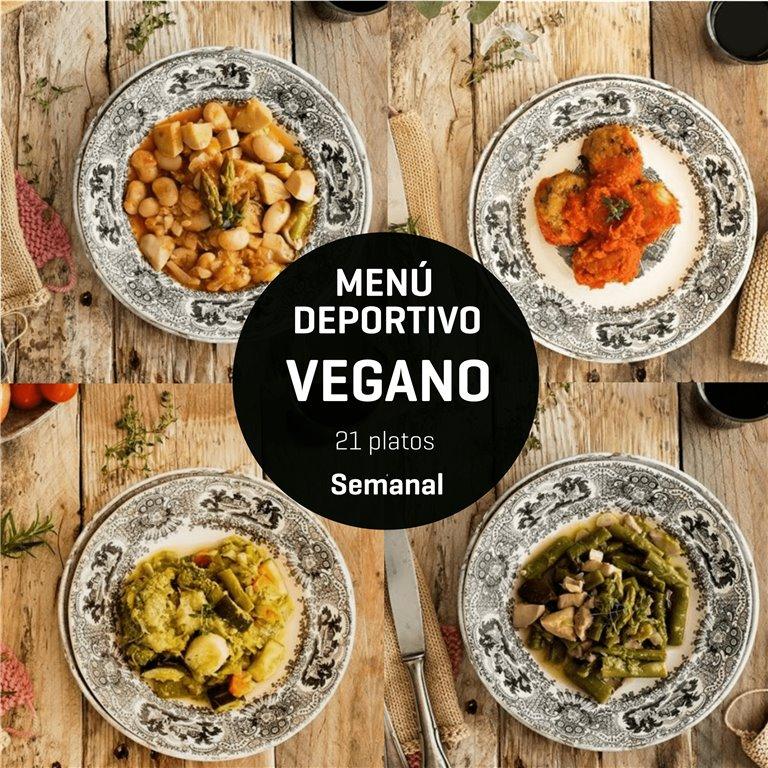Menú deportivo vegano 21 platos