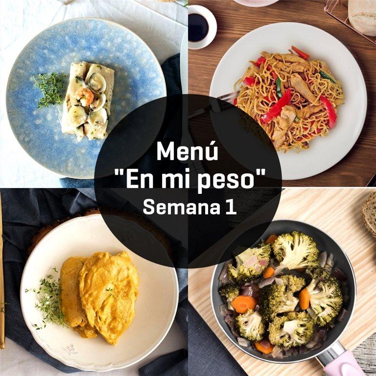 "Menú Innoven ""en mi peso"" Semana 1"