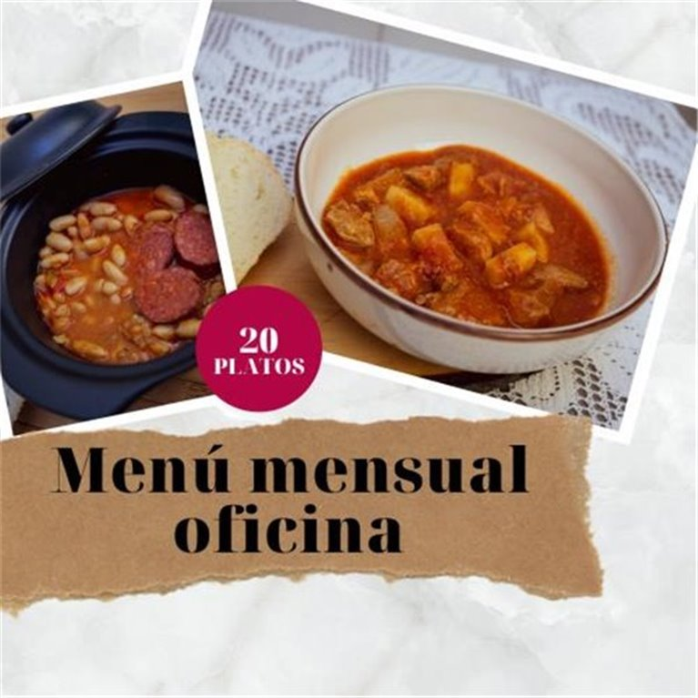 Monthly menu office 20 dishes