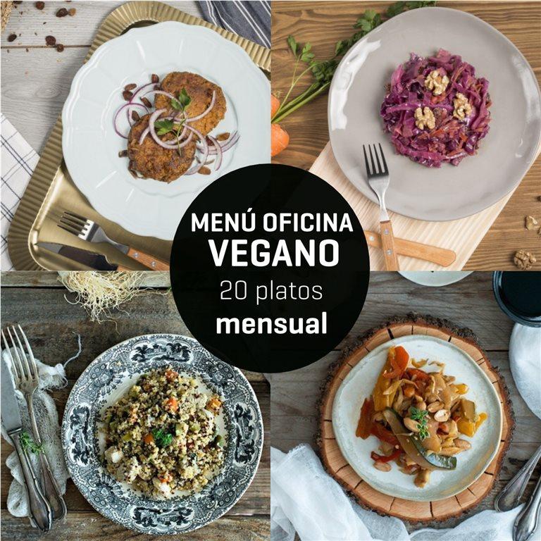 Menú mensual oficina vegano 20 platos, 1 ud