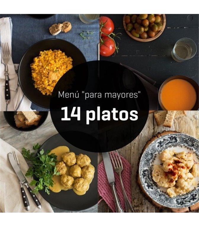 """Menú """"para mayores"""" de 14 platos - semanal"""