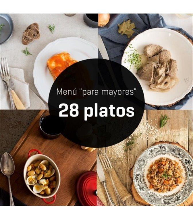 "Menú ""para mayores"" de 28 platos, 1 ud"