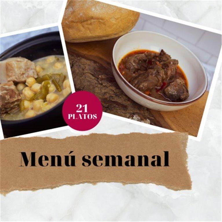 21-course weekly menu
