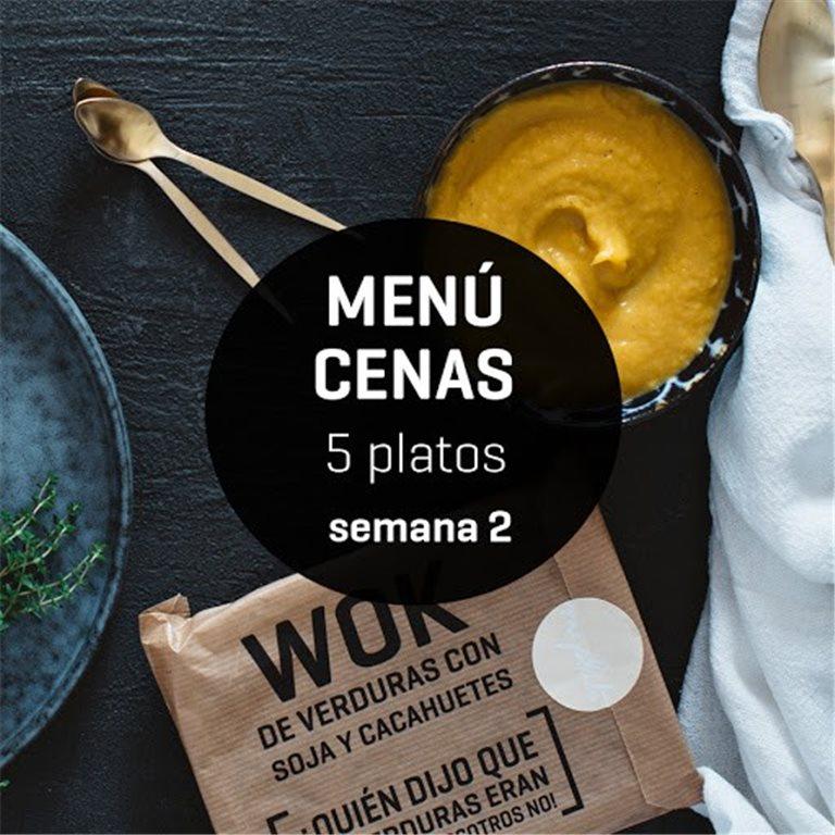 Menú semanal cenas ligeras 5 platos Semana 2, 1 ud