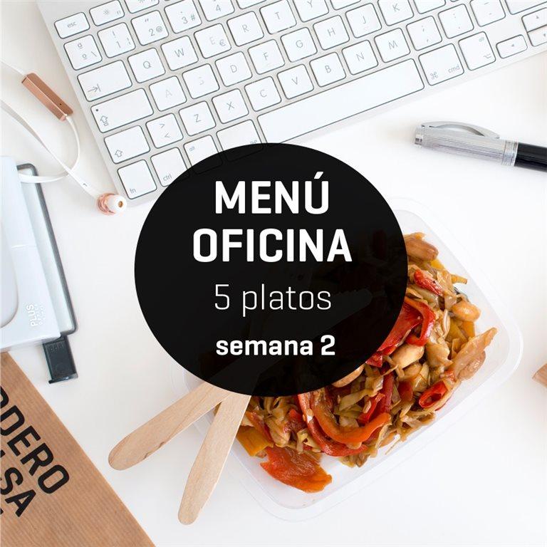 Menú semanal oficina 5 platos Semana 2