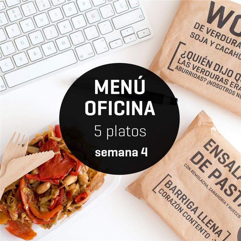 Menú semanal oficina 5 platos Semana 4, 1 ud