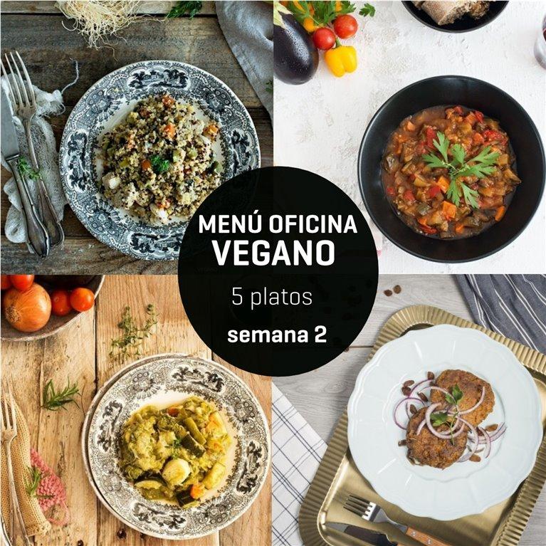 Menú semanal oficina vegano 5 platos Semana 2, 1 ud