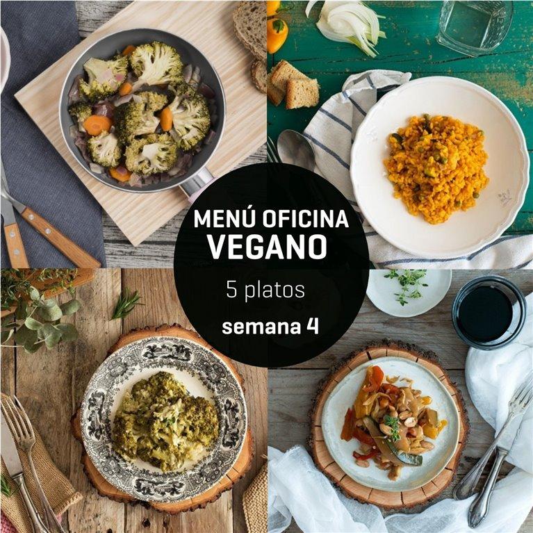 Menú semanal oficina vegano 5 platos Semana 4, 1 ud