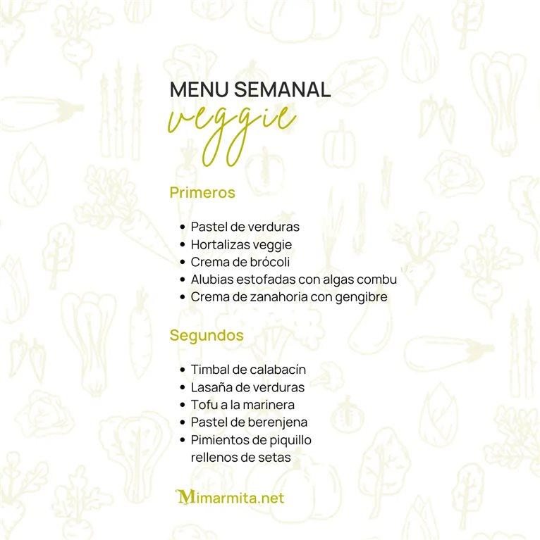 Menu Semanal Veggie