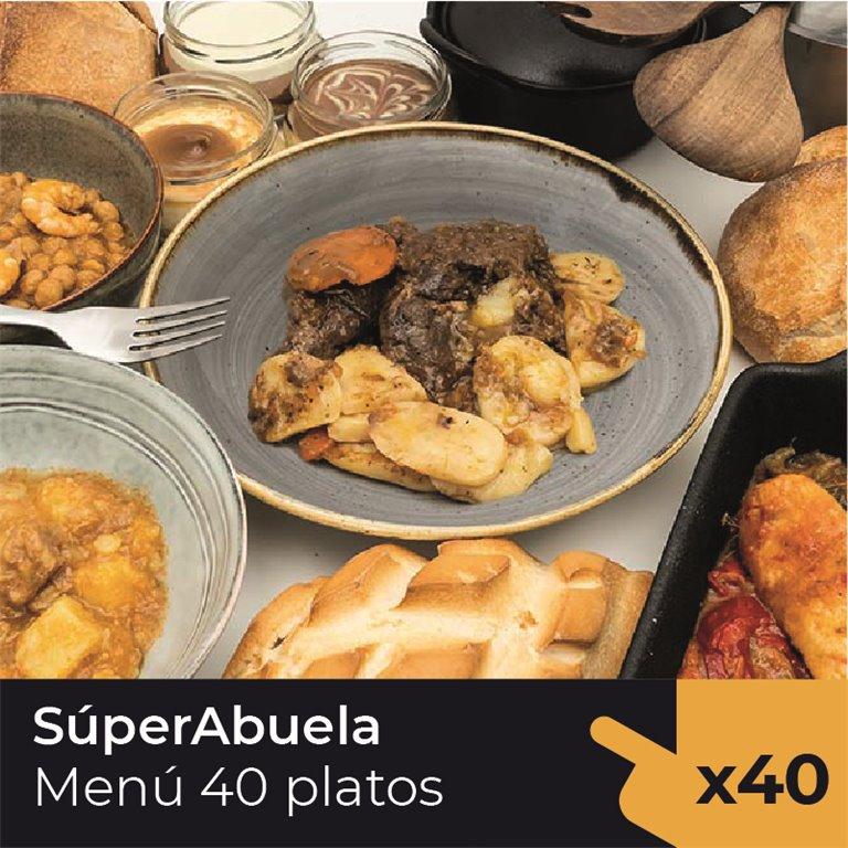 Menú Súperabuela  (40 Platos)