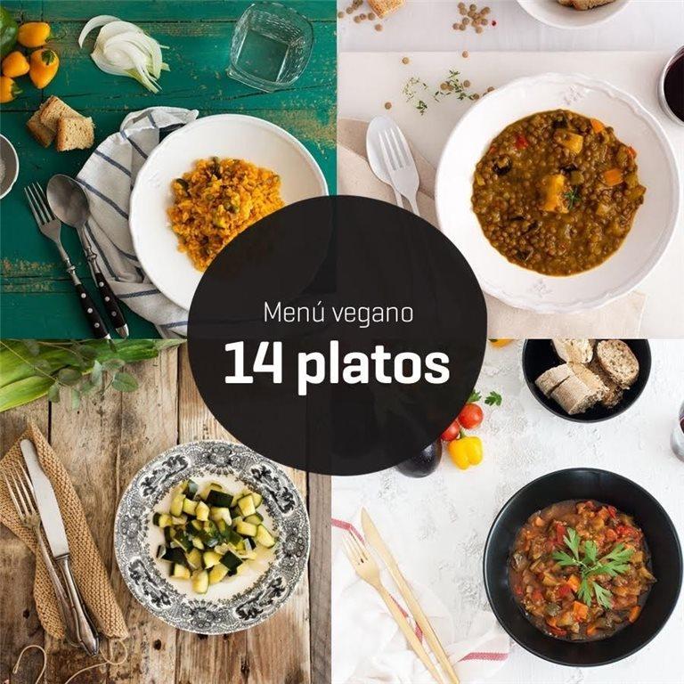 Menú vegano 14 platos, 1 ud
