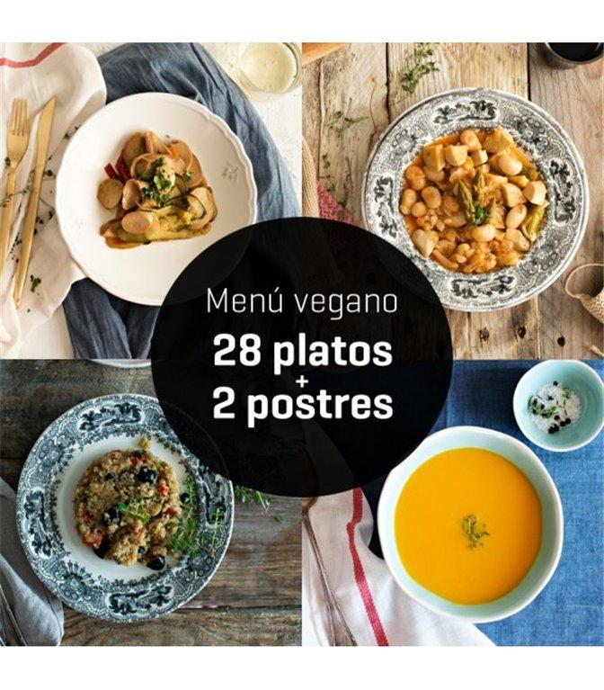 Menú vegano 28 platos, 1 ud