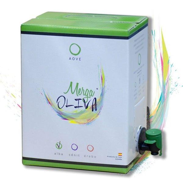 Mergaoliva Alba. Aceite de oliva Picual. Bag in Box 3 Liters