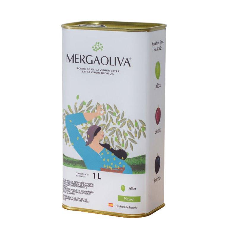 Mergaoliva - Alba - Picual - 12 Latas 1 L