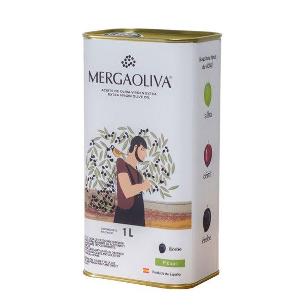 Mergaoliva - Érebo - Picual - 12 latas 1 L