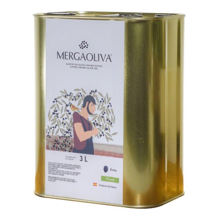 Mergaoliva - Érebo - Picual - 4 Latas 3 L
