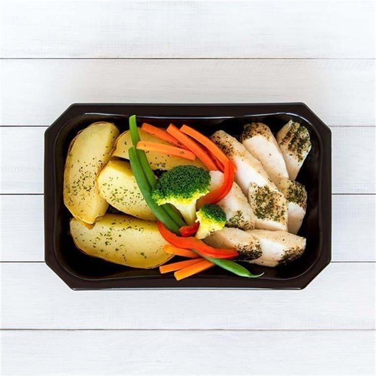 Merluza con patata y vegetales, 1 ud