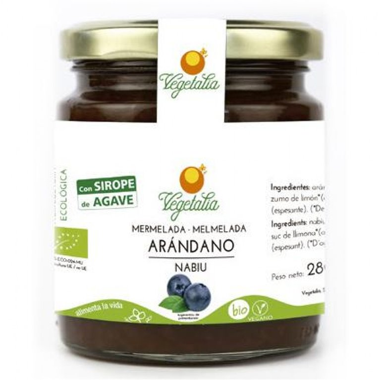 Mermelada de Arándanos (Sin Azúcar) Bio 265g, 1 ud