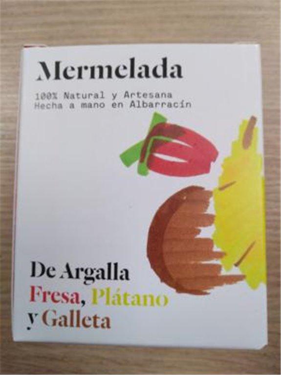 Mermelada De Argalla fresa plátano y galleta, 1 ud