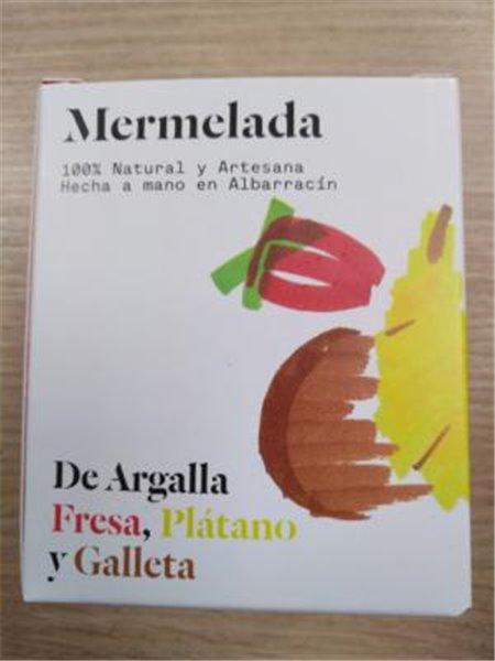 Mermelada De Argalla fresa plátano y galleta