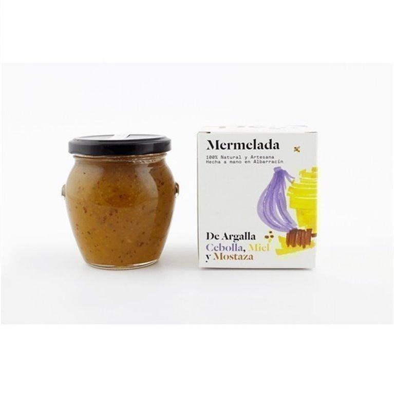 Mermelada de cebolla, miel y mostaza