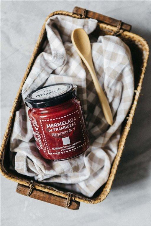 Handmade raspberry jam