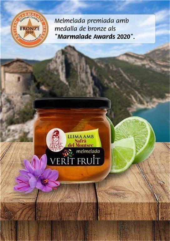 Mermelada de lima con azafrán del Montsec (220 gr)