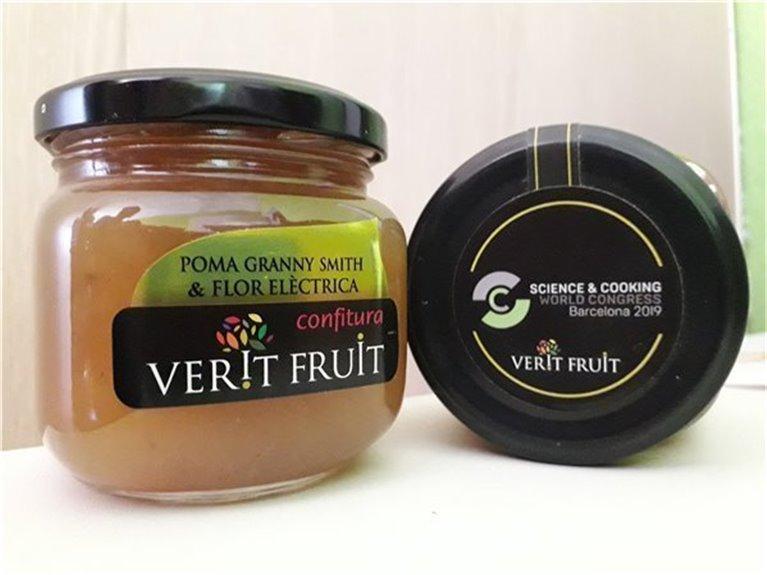 Mermelada de manzana granny smith y flor eléctrica (220 gr)