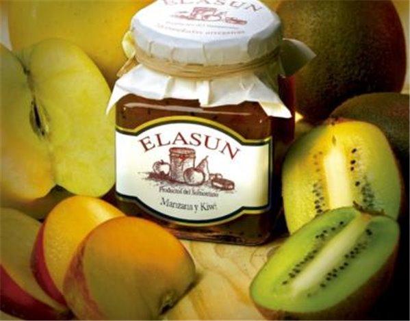 Mermelada de manzana y kiwi Elasun