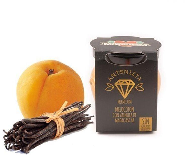 Mermelada de melocotón con vainilla, 230 gr
