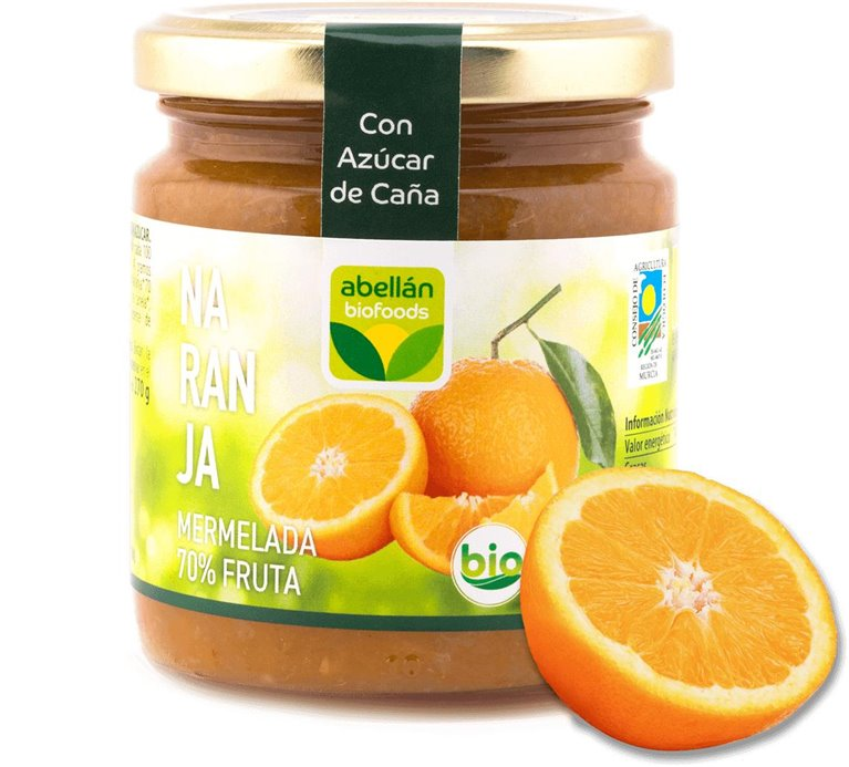 Mermelada de Naranja (con azúcar de caña)