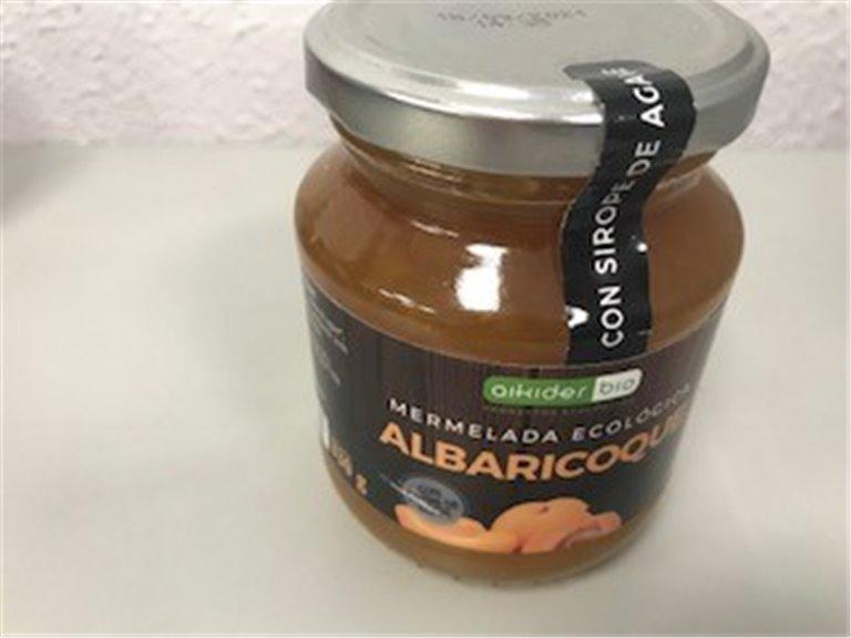 Mermelada ecológica de albaricoque, 1 ud