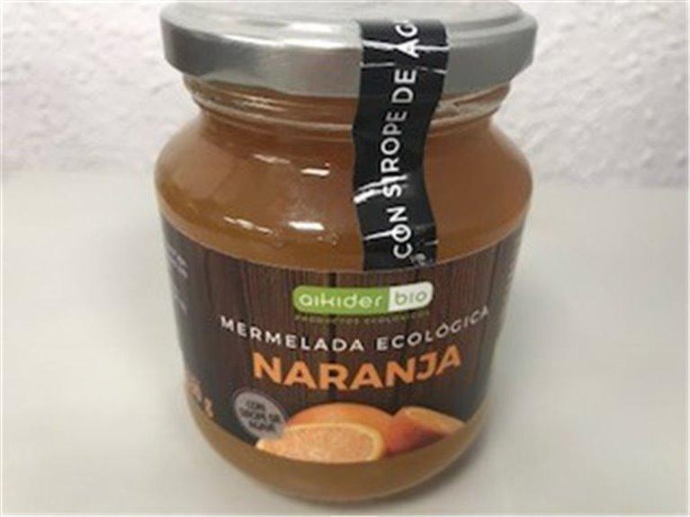 Mermelada ecológica de naranja, 1 ud