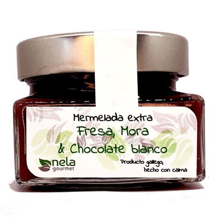 Mermelada Extra de Fresa, Mora & Chocolate Blanco