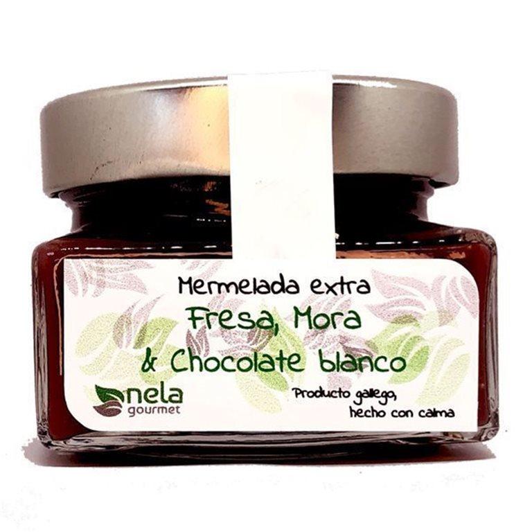 Mermelada Extra de Fresa, Mora & Chocolate Blanco (Vegano)