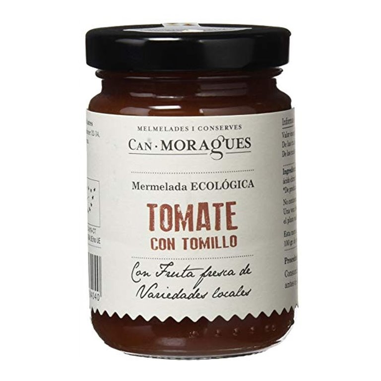 Mermelada Tomate con Tomillo Ecológica 170gr. Can Moragues. 6un., 1 ud