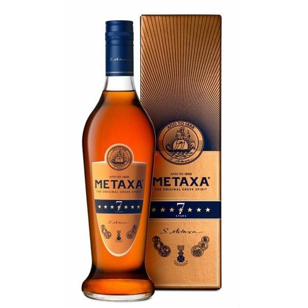 METAXA 7 STAR 1L. + ESTUCHE