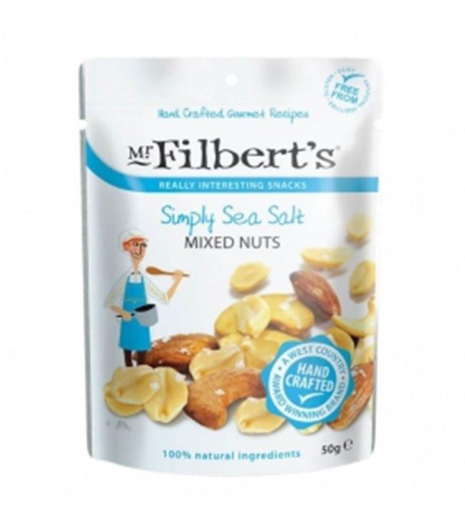 Mezcla de Frutos Secos con Sal Marina 50gr. Mr. Filber'ts Snacks. 12ud