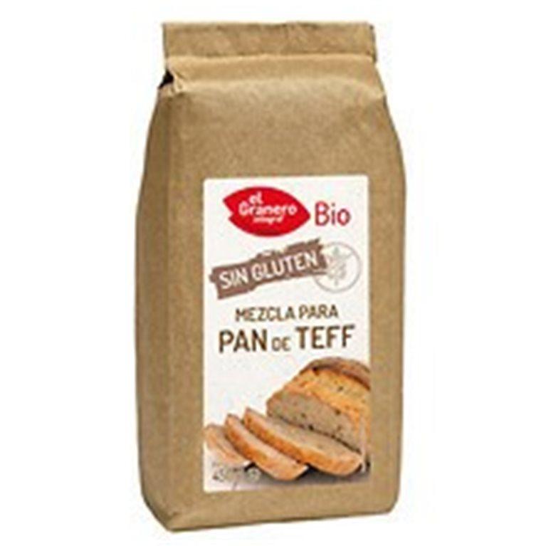 Mezcla para pan de teff sin gluten, 450 gr